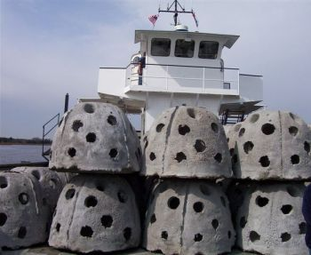 Reef balls will be added to expand three nearshore artificial reefs off the North Carolina coast thanks to a grant of funds from sales of the recreational saltwater fishing license.