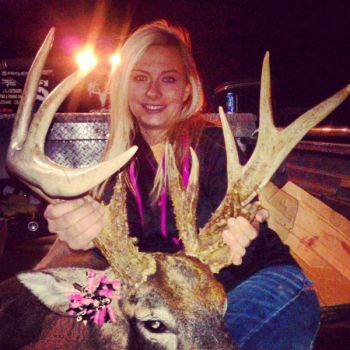 samantha evans had a tough deer hunting season compared to