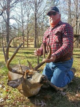 Floridian David Curtis returned to his native Alamance County to kill this huge buck last Thanksgiving morning.