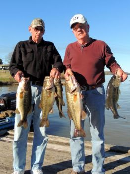 Larry Stauch and Jack Watts caught this 20-pound stringer of bass at Badin Lake this past Saturday.