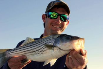 Striped bass fishing is picking up on Lake Gaston if you can find slightly warmer water.