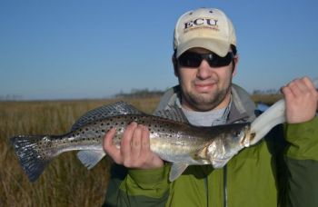 Big speckled trout are biting in the Tar and Pamlico rivers, along with striped bass.
