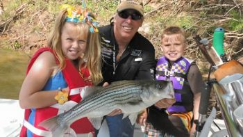 Guide Rod Thomas said stripers are on the way up the Roanoke River but haven't reached Weldon yet.