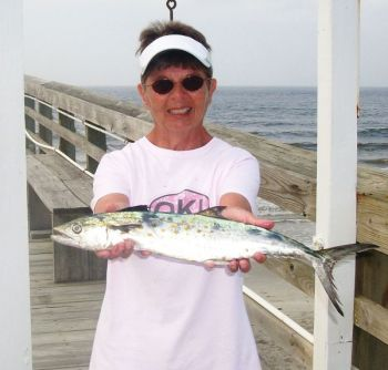 Kathie Brown caught this Spanish mackerel on April 30 on the Ocean Crest Pier on Oak Island.