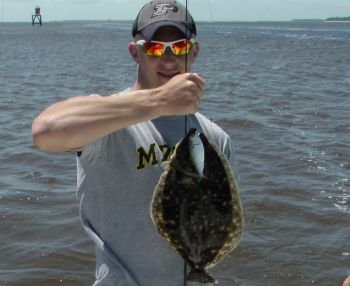 Big menhaden are producing a lot of nice flounder in Winyah Bay recently.