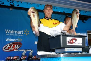 Todd Harris of Clemmons won the BFL tournament on High Rock this past Sunday by fishing his best docks later in the day.