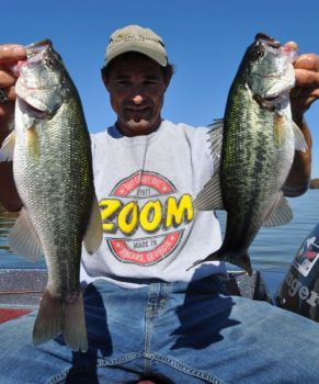 Joel Richardson has been having a fine time at Lake Gaston finding bass near mayfly hatches.