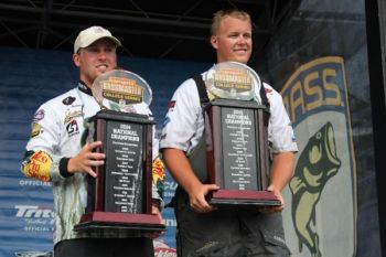 Andrew Helms and Jake Whitaker of UNC Charlotte won the Bassmaster College Series National Championship on Lake Chatuge with a three-day total weight of 38 pounds, 9 ounces.