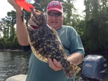 Big flounder have been regular visitors to fishermen's creels in the Wrightsville Beach area.
