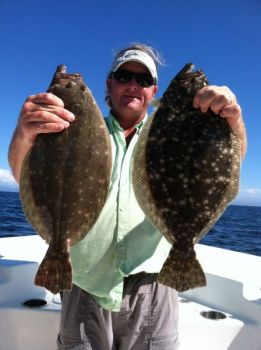 The fall flounder bite around jetties can be fantastic, as Capt. J Baisch of Murrells Inlet provides evidence.