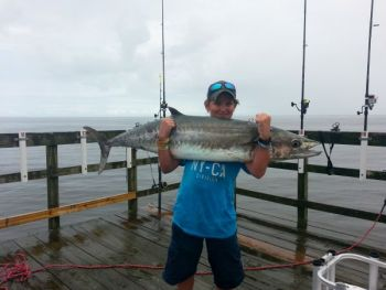 T.J. Farrington, 13, of High Point, decked this 42-pound, 10-ounce king mackerel on Oak Island Pier last week.