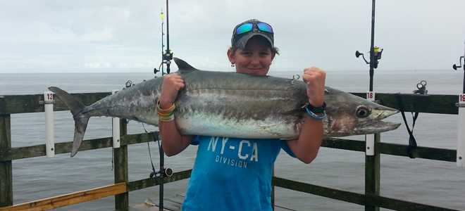 High Point teen decks trophy king mackerel at Oak Island Pier