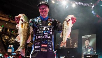 Brent Ehrler leads Bryan Thrift by three ounces entering Sunday's final round of the FLW Forrest Wood Cup on Lake Murray.