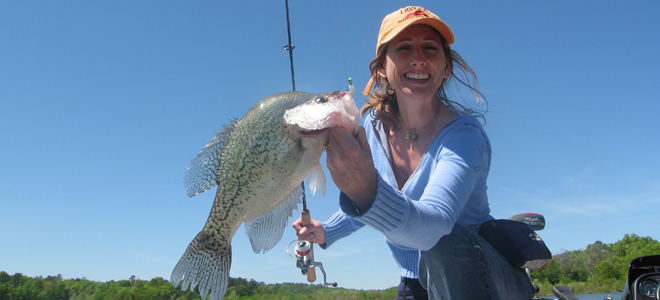 Jordan Lake crappie biting in deep water along New Hope channel