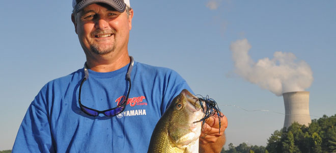 Topwater bass bite has been consistently good at Shearon Harris