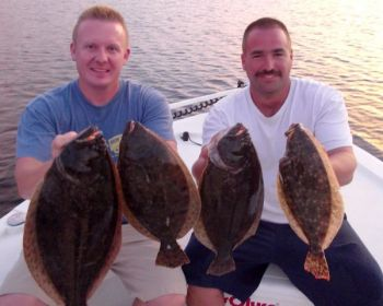 Inshore fishing has responded to the cooling weather in the Sneads Ferry area, with flounder at the forefront.