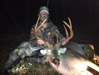 An Alamance County man's entry of a nice 8-point buck is winner of the first monthly Bag-A-Buck contest.