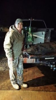 Predator hunter Ken Truesdale said that night-imaging technology has made night-hunting for hogs a snap.