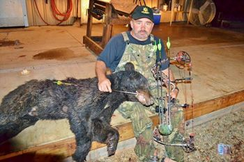 Greenville's Dale Samples killed this 160-pound black bear with archery equipment.