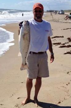 Big red drum have showed up at Nags Head, Avon on Cape Point, highlighting a great week of fishing on the Outer Banks.