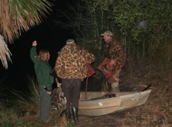 SCDNR personnel roll out the blue ribbon for hunters drawn for special waterfowl hunts on some of their best WMAs.