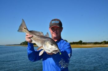 Extremely clear winter water and schools of redfish make for a great December combination.