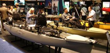 Fishing and boating shows will often have the latest line of vessels, whether kayaks or center-consoles.