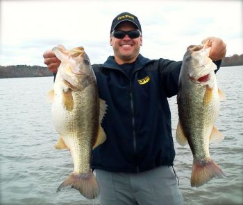 Bass pro Dave Wolak of Wake Forest only needs a handful of different baits during the winter.