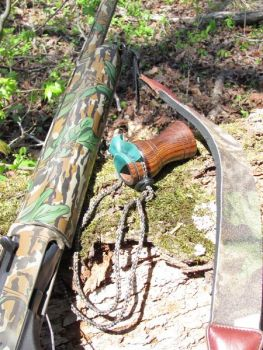 An unusual sounding call, like those produced by a tube, can often turn the tables on a big gobbler.