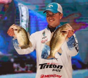 Casey Ashley enters Sunday's final day of the Bassmaster Classic on Lake Hartwell in fifth place, less than two pounds out of the lead.
