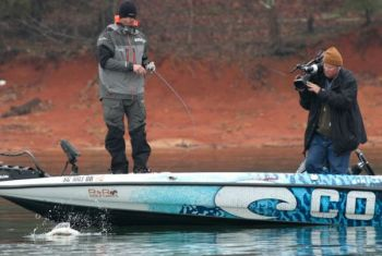 Casey Ashley of Donalds, S.C., lands a nice Lake Hartwell bass on the way to winning the Bassmaster Classic.