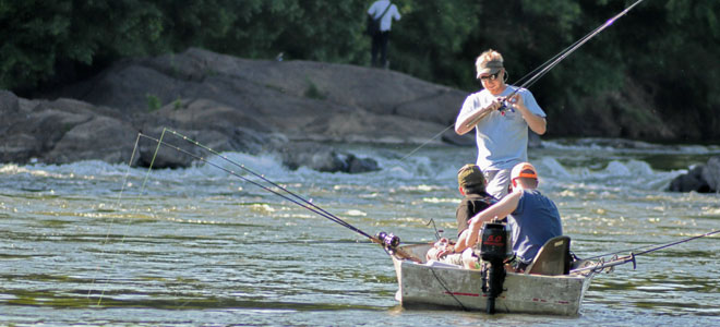 Roanoke River striper run just getting read to peak