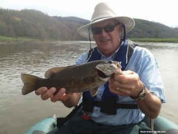 Smallmouth bass are beginning to spawn on northwest North Carolina's New River, promising good fishing over the next few weeks.