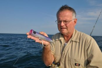 Bruce Trujillo�s homemade poppers are perfect for attracting attention from big amberjacks.