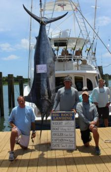 Capt. Brian Komer's Viking 62 caught this 680-pound blue marlin on Monday to take the lead in the Big Rock Blue Marlin Tournament out of Morehead City.