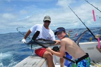 White marlin can be targeted with 30- to 50-pound class tackle, a far cry from the huge rods and reels that are set up to troll for blue marlin.