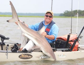 Think a kayak is no place to be with a big shark on the end of your fishing line? Check out this video and learn how.