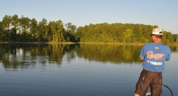 Many North Carolina anglers sleep in and miss out on a great, midsummer topwater bite on many reservoirs.