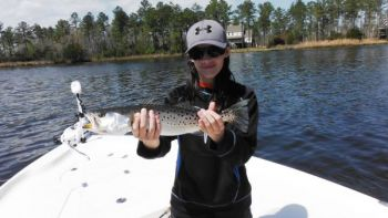 The first cold front of the season will often send speckled trout into a feeding frenzy.