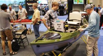 Eddyline�s YakAttack won the ICAST Best in Show award for its special-edition fishing kayak.