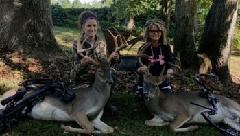 Sisters-in-law both kill their biggest bucks ever on the same day.