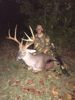 This 150-class buck fell to R.J. Seiler's two-bladed Rage Extreme broadhead on a recent evening hunt.