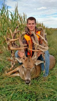 Clayton Brummer is just 16 years old, but the Kansas hunter showed extraordinary patience by passing on his first shot at this 230-inch buck.