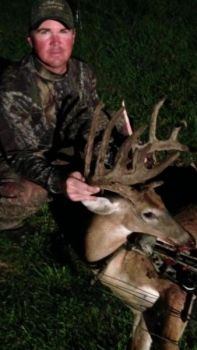 This buck wasn't Calvin McCaskill's first trophy, but it's his best, and first ever with a bow.