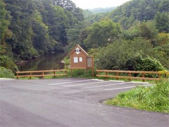 A paved parking lot and steps leading to the river make this new public fishing area a great addition to Western North Carolina's South Fork New River.