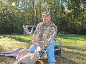 After wounding the same deer last year, Shane Phillips killed this 16-point buck that green-scored over 191.