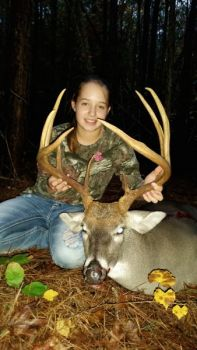 Teen hunter Haylie Richard killed this nice buck with a crossbow in Granville County.