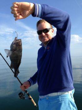 December is prime time to catch big black sea bass on nearshore livebottom of South Carolina's coast.