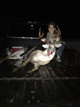 Morgan Ellington killed this big buck two days after her younger sister killed her own trophy from the same stand.