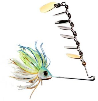 The ScatterShad spinnerbait is a great fall bait, especially on lakes with a large population of baitfish.